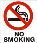 "G-486023 - Safehouse Signs 7"" x 10"" Plastic NO SMOKING Sign"