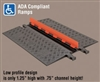 GD1X75 - Checker®s Guard Dog® 1 Channel Low Profile Cable Protectors with ADA Compliant Ramps