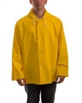 J53107 - Tingley Industrial Work Yellow Jacket with Storm Fly Front with Attached Hood