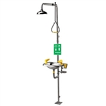 SE-623 - Speakman Stay Open Shower w/ Pull Rod Activation Stainless Steel SE-400 Eye/Face Wash
