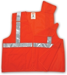 V70629 - Tingley Fluorescent Orange-Red Vest with Hook and Loop Closure and 2 Pockets