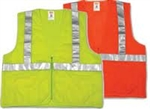 V70632 - Tingley Fluorescent Yellow-Green Vest with Zipper Closure and 4 Pockets